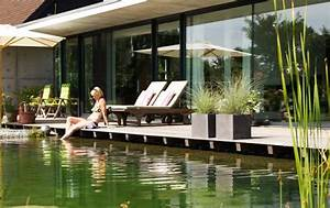schwimmteich planen anlegen und pflegen schoner wohnen With französischer balkon mit schwimmbad im garten kosten