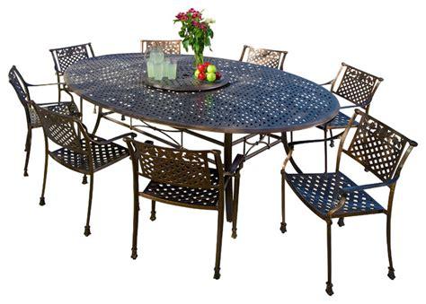 magdalena 10 outdoor cast aluminum dining set