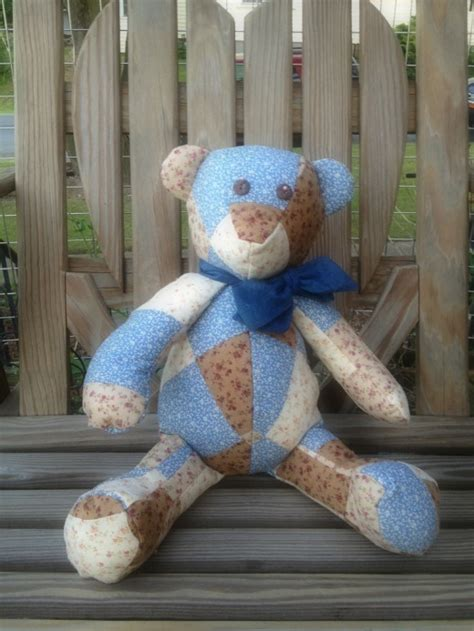 handmade patchwork teddy bear  luulla