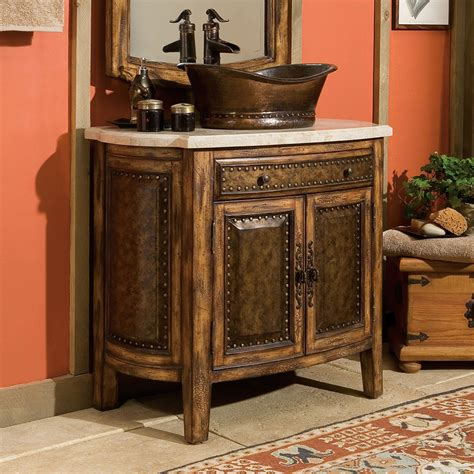 Weathered Nickel Cabinet Knobs by 36 Rustico Vessel Sink Chest Bathroom Vanity 06637 110