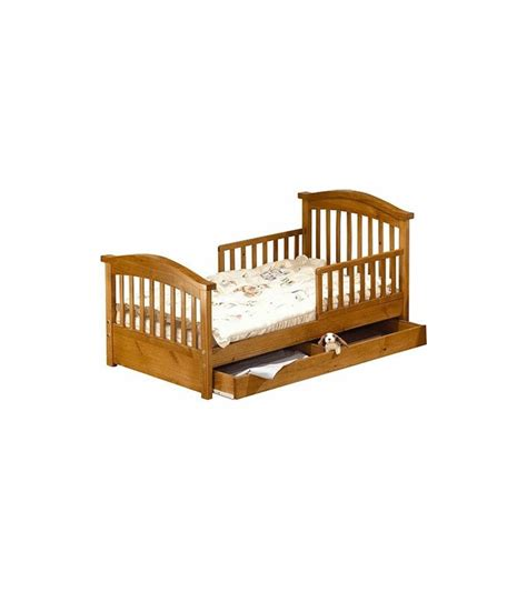 sorelle toddler bed sorelle joel solid pine toddler bed oak on pine