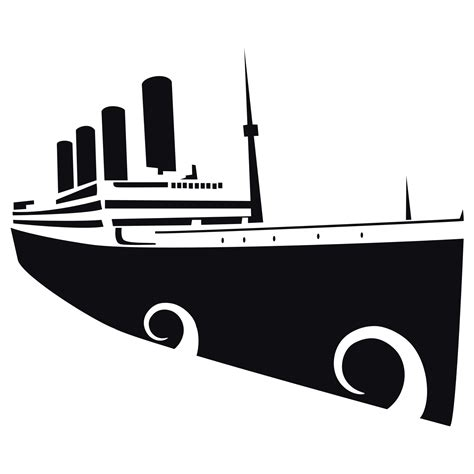 Titanic Boat Vector by Vector For Free Use Titanic Vector Image