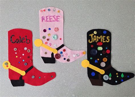 rodeo season cowboy boot craft arts amp amp crafts for 718 | 74ac5114d7781228e71276c54b242854