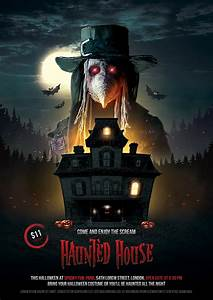 Art Flyer Template Haunted House Halloween Flyer On Behance