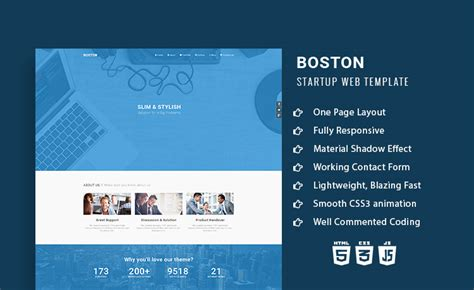 company onepage website templates 2016 boston responsive onepage multipurpose agency html5 template