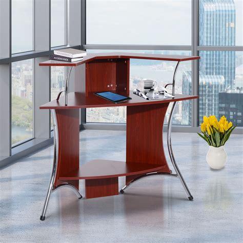 homcom modern trestle writing table computer desk black