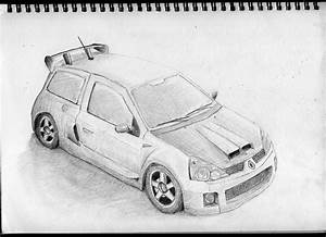 Here some images of cool drawings of cars made with pencil