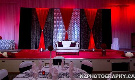 black white red stage  design  decor phot credit