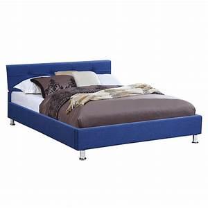 Lit Double Sommier Séparé : lit double pour adulte 140x190 cm 2 places 2 personnes avec sommier tissu ebay ~ Melissatoandfro.com Idées de Décoration