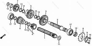 Honda Atv 1979 Oem Parts Diagram For Transmission