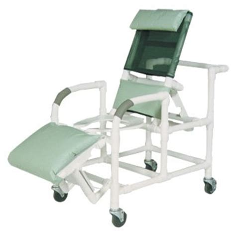 20 quot pvc reclining shower commode chair open front seat
