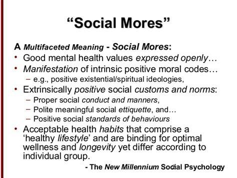 social mores sociology