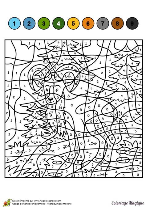 Dessin à Colorier D'un Coloriage Magique Cm2, Le Mouflon
