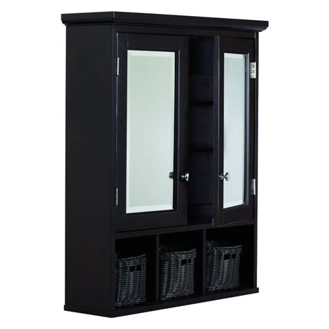 lowes canada bathroom wall cabinets allen roth espresso 24 75 in x 30 25 in medicine cabinet