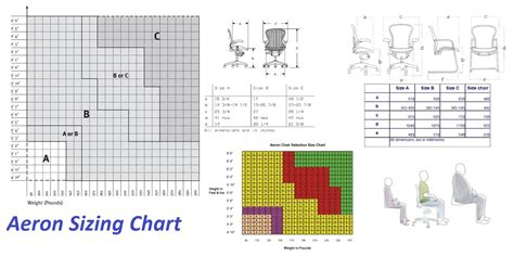 size chart herman miller aeron desk chairs and parts at