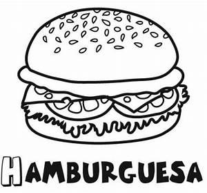 Hamburguesa para colorear