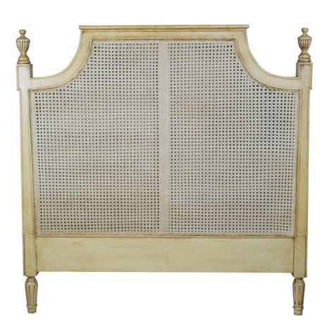 King Size Vintage French Rattan Headboard Furniture   La