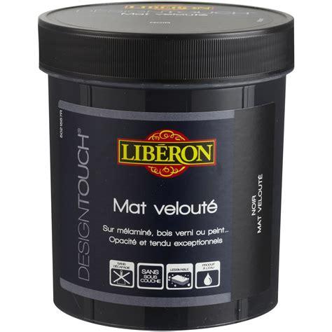 peindre placard cuisine peinture à effet mat liberon design touch noir 0 5 l