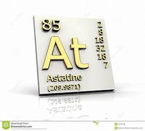 Element Of Astatine Vector Illustration