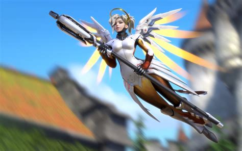 wallpaper mercy overwatch  games