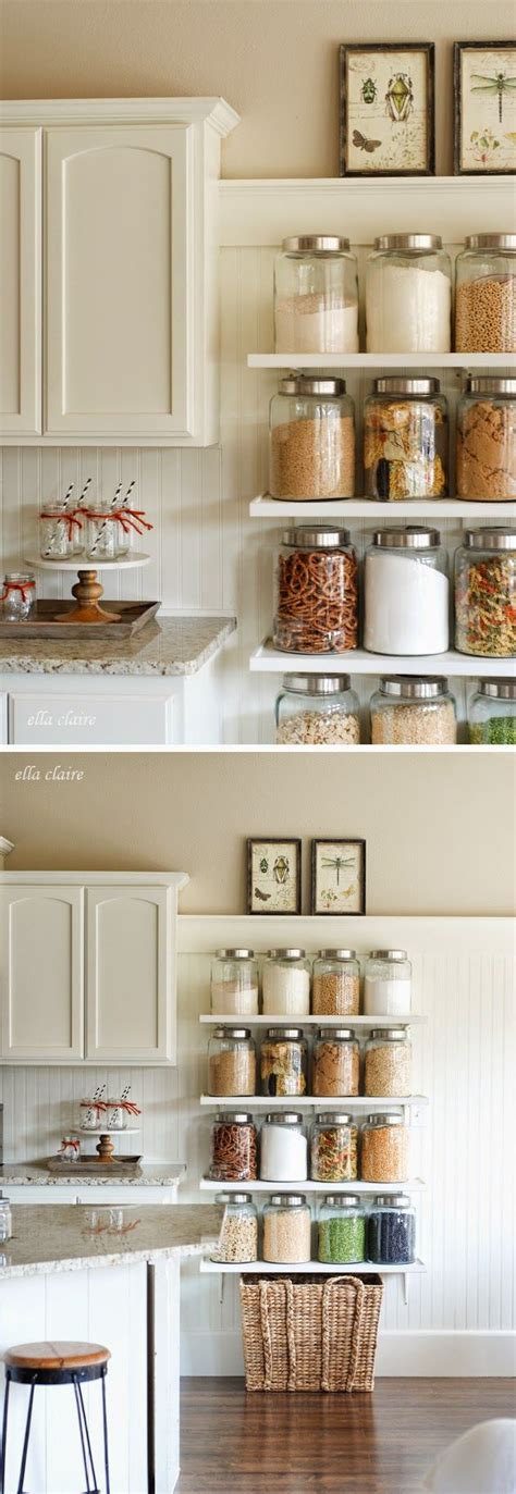 country kitchen shelves diy country kitchen shelves creating pantry space 2887
