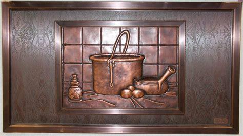 Gourmet Kitchen Ideas - idea share kitchen backsplash design using unique cast metal art murals kitchen designs by