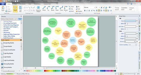 bubble diagrams  landscape design  conceptdraw pro