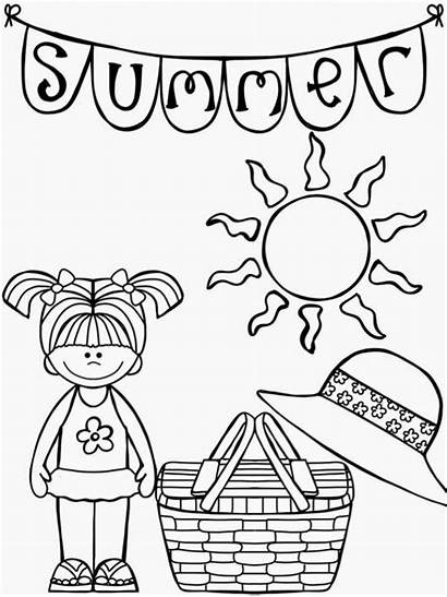 Summer Coloring Homework Packet Packets Pages Colour