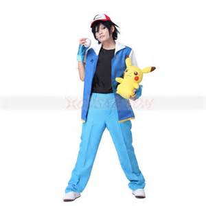 pokemon ash ketchum royal blue cosplay costume