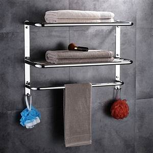 3, Layers, Polish, Towel, Rack, Stainless, Steel, 304, Bathroom, Shelf, Bathroom, Multi, Function, Towel, Rack