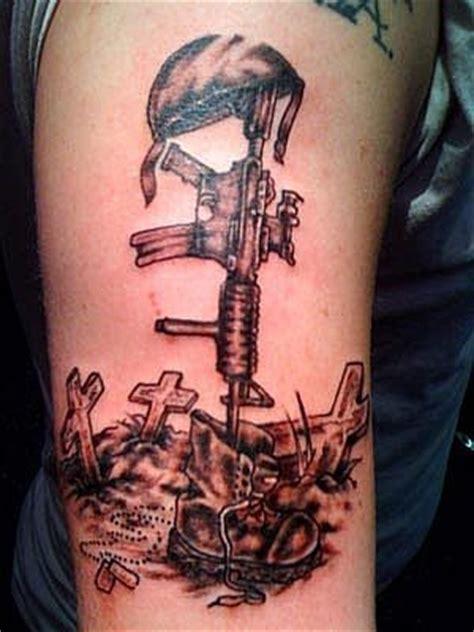 cross  black soldier tattoo  arm tattoomagz