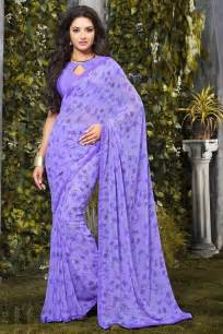 punjabi earrings buy lavender casual printed georgette saree online 132cg2105c