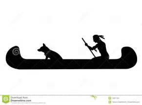 Indian Canoe Silhouette Clip Art