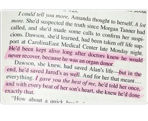 Nicholas Sparks The Best Of Me Quotes