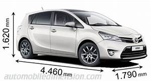 Toyota Verso Dimensions : dimensions of toyota cars showing length width and height ~ Medecine-chirurgie-esthetiques.com Avis de Voitures
