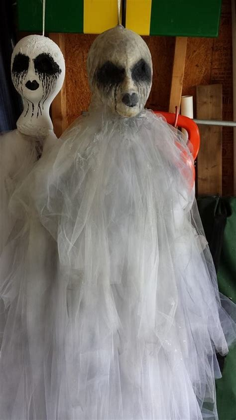 Scary Decorations For - easy diy ghost using a styro foam a wire hanger and