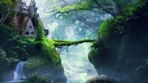 enchanted celtic  forest kingdom magical