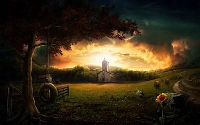 Country Scenes Desktop Village Wallpapersafari