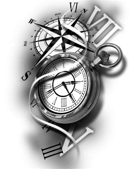Image result for compass sketch tattoo designs | Tatuagem, Tatuagem relogio e Tatuagem relogio