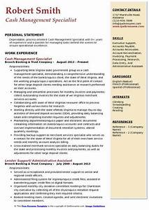 Build A Resume For Free And Download Cash Management Specialist Resume Samples Qwikresume