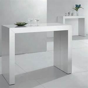 Table Blanc Laqué Extensible : table console extensible raph blanc laqu design et l gant ~ Teatrodelosmanantiales.com Idées de Décoration