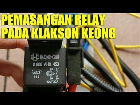 cara pasang relay pada klakson motor youtube