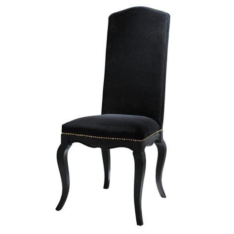 chaises maisons du monde chaise en velours et bois noir barocco maisons du monde