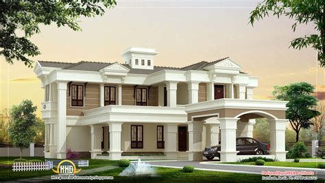 luxury home plans beautiful luxury villa design 4525 sq ft kerala home