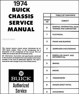1974 Buick Shop Manual Riviera Lesabre Electra Regal