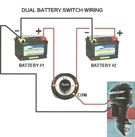 Boat Battery Switch Wiring by Dual Batteries Wiring Diagram Dual Free Engine Image For
