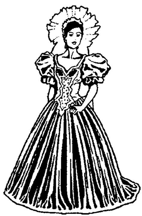 junge dame im kleid ausmalbild malvorlage hochzeit