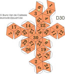 20 Sided Dice Template