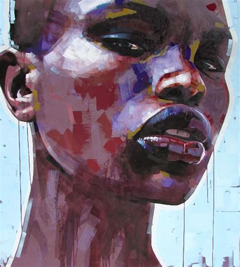 Abstract Black Portrait Painting by Quot Africa Is My Name Quot Jimmy South B 1970