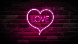 Glowing Neon Hearts Seamless Loop Background Stock Footage ...